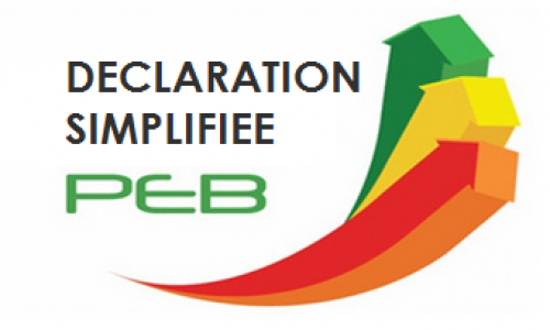 Déclaration PEB simplifiée